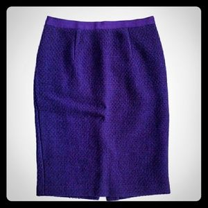 Boden Purple Pencil Skirt - Size 4R - GUC